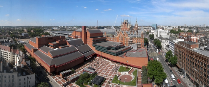Ariel view of the British Library in London